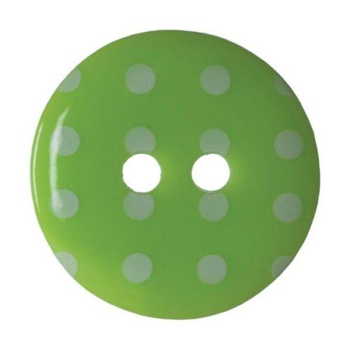 Paquete De 4 Dobladillo Irregular Dotty Craft 2 agujero coser a través de los botones de 17.5mm