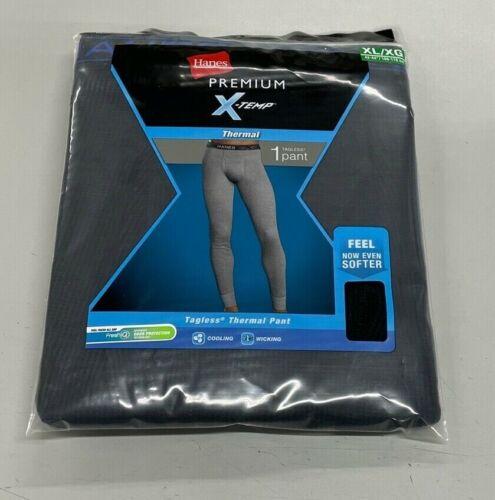 HANES MENS PREMIUM X-Temp Thermal Crew Pant XL Color Black