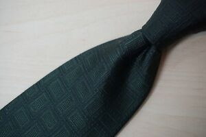 Stefano Ricci Pine Green Picture Frame Textured Geometric 100% Silk Tie