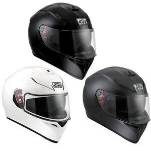 3aa02297 AGV K3 SV Sunvisor Pinlock Full Motorcycle Crash Helmet Matt Black ...