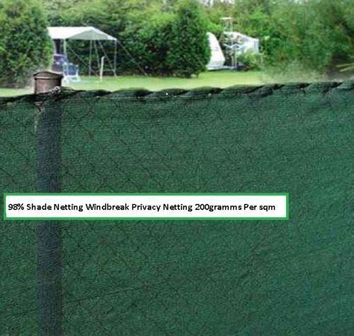 200gsm 98/% SHADE NETTING PRIVACY  SCREEN  WINDBREAK NETTING GARDEN SHADE MESH