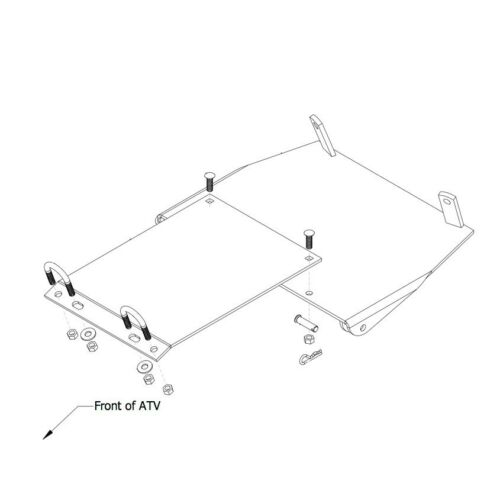 Cycle Country 15-4521 Mid Frame Plow Mount suzuki King Quad Quadrunner