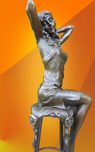 ART-DECO-BRONZE-Josephine-SIGNED-STATUE-FIGURE-FIGURINE-HOT-CAST-STATUETTE