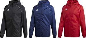 Adidas-Mens-Rain-Jacket-Core18-Coat-Hood-Waterproof-Wind-Breaker-Zip-S-M-L-XL
