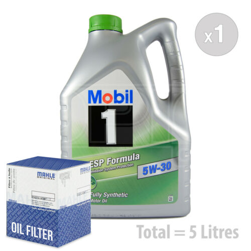 Engine Oil and Filter Service Kit 5 LITRES Mobil 1 ESP 5W-30 Fully Synth 5L