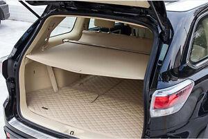 rear trunk shade cargo cover for 2014 2016 toyota highlander beige ebay. Black Bedroom Furniture Sets. Home Design Ideas