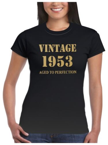 1953 T Shirt Birthday Present Vintage Born Age Womans Ladies 17 Sizes Available
