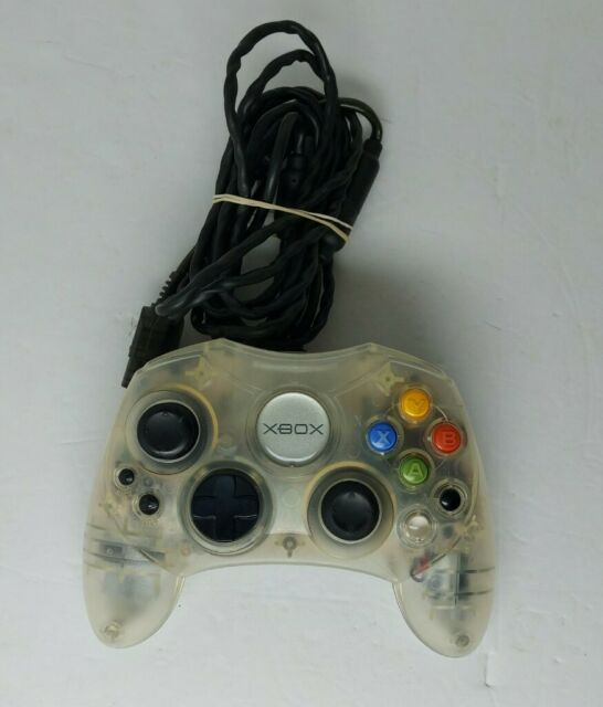 Microsoft Original Xbox Crystal Clear Translucent S Controller W Break Cable