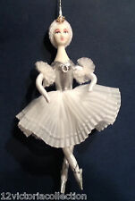 Ballerina white dress Russian Hand made CHRISTMAS ORNAMENT doll Swan Lake ballet