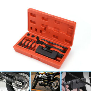 13PCS-Chain-Breaker-Riveting-Tool-Cutter-OHV-Cam-Drive-Motorcycle-Link-Separator