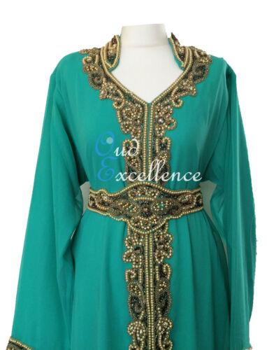 Dubai Morocco Dress Amazing Detailed Farasha with Pearl-Like Stones All Around