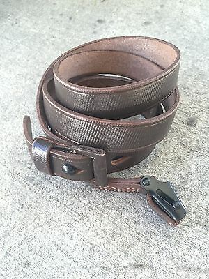 Best K98 Mauser Repro Sling - Brown Leather with proper markings
