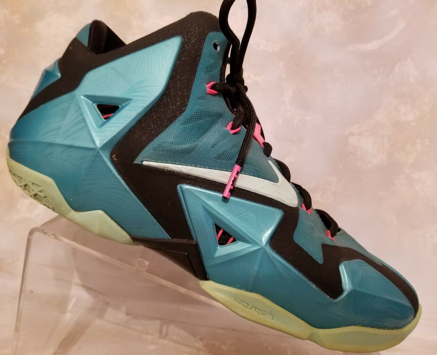 Nike Lebron James Flywire Teal Pink Athletic Basketball Sneaker shoes Mens 10.5