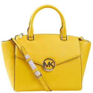 Michael-Kors-Bag-35H4GHUS3L-MK-Hudson-Large-Satchel-Citrus-amp-WALLET-SET