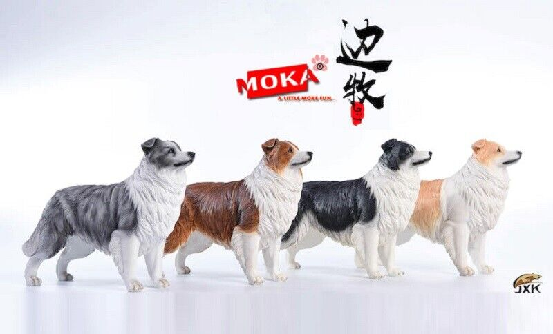 Mukia 1 6th Escala Modelo Border Collies, Perro Animales de Juguete Figura De Colección