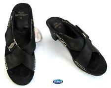 SCHOLL Mules gelactiv bride scratch talons 6 cm tout cuir noir 39 TRES BON ETAT