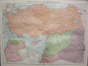 1940 map turkey cyprus syria palestine transjordan turkish image is loading 1940 map turkey cyprus syria palestine transjordan turkish gumiabroncs Gallery