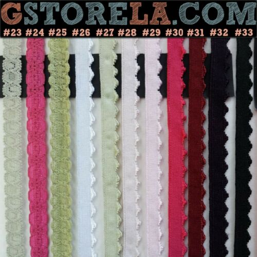 10 Yards Mixed Elastic Stretch Trim *Close Out* Doll//Lingerie Fancy XS2