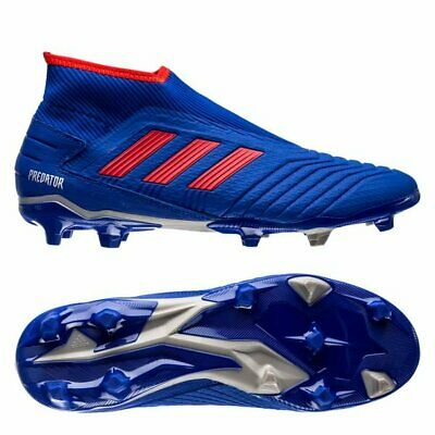 Disfrazado Pelmel Cooperación  adidas Predator 19.3 FG 2019 Laceless Soccer Cleats Shoes Royal Blue / Red  | eBay