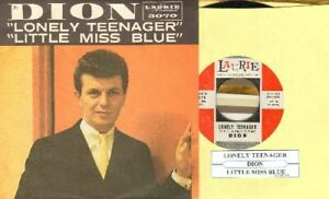 Dion-Lonely-Teenager-Little-Miss-Blue-Vinyl-45-rpm-record-PS-Free-Ship