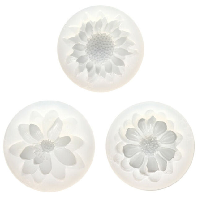 Diy Silicone 3D Flower Moulds Mold Resin Jewelry Pendant Making Tool Crafts Y2O1