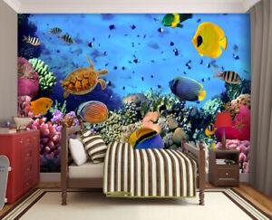 315x232cm-wallpaper-Ocen-Life-photo-wall-mural-bedroom-green-wall-art-Coral-reef
