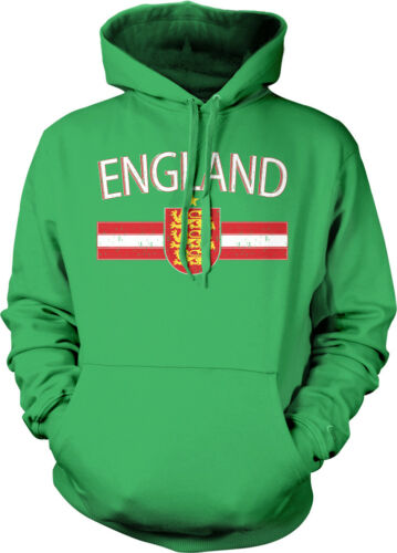 Distressed England Country Soccer Flag English Pride Hoodie Pullover