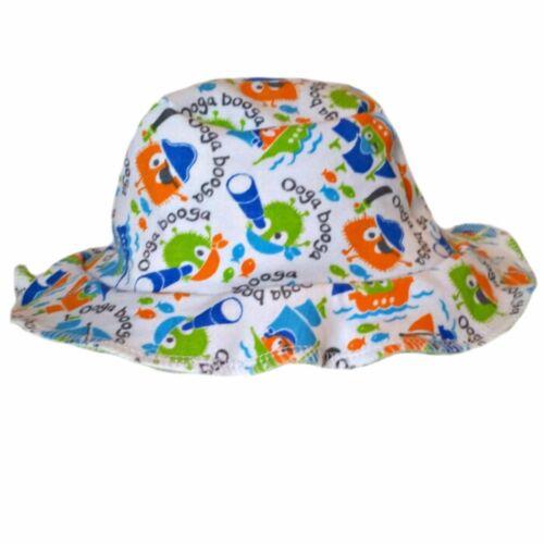 Newborn and Toddler Sizes Pirate Ooga Booga Baby Boy Floppy Sun Hat 6 Preemie