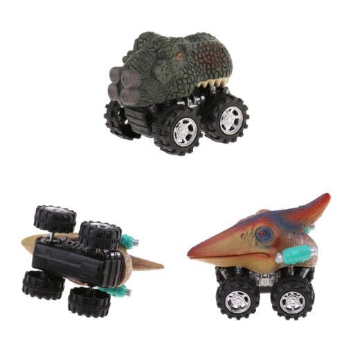 2x DINOSAURI ANIMALI FIGURE TIRA AUTO JURASSIC Toys Bambini Regali di Compleanno