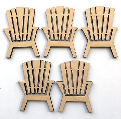 Unfinished Wood Adirondack Chairs Set Of 5 Craft Cutouts Home Decor Furniture Ebay