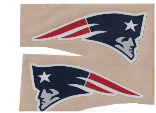New England Patriots FULL SIZE FOOTBALL HELMET DECALS W//BUMPERS