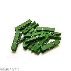 MINI-esegue-il-pegging-3-5-cm-Verde-Piccolo-in-Legno-Peg-CLIP-PINZA-IN-LEGNO-UK-Venditore