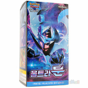 Pokemon Cards TCG Sun /& Moon Ultra Prism MOON SM5M Booster 1 Display Box Korean
