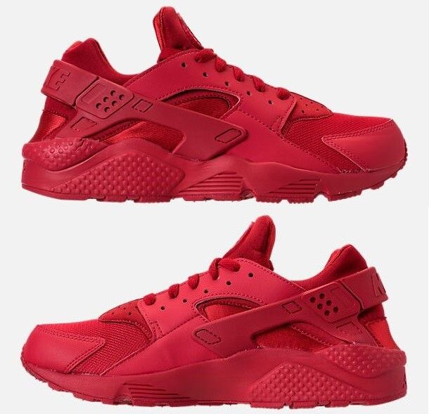 NIKE AIR HUARACHE RUN Homme SPANDEX RUNNING Rouge AUTHENTIC NEW IN BOX SELECT Taille