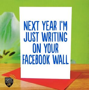 O107 happy birthday facebook love greetings card rude funny adult image is loading o107 happy birthday facebook love greetings card rude m4hsunfo