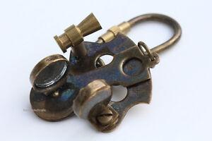 Brass Nautical Sextant Key Chain