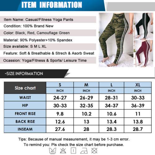 Women/'s YOGA Workout Gym Print Sports Pants Leggings Fitness Stretch Trousers G1