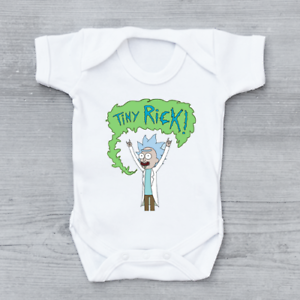 Tiny Rick, Funny Rick and Morty Baby Grow Bodysuit Vest Unisex Gift