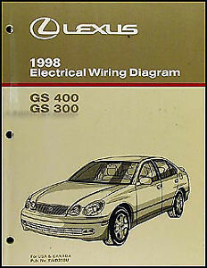 1998 lexus gs 300 400 wiring diagram manual gs300 gs400 electrical rh ebay com 1998 Lexus LX470 Wiring 1998 lexus gs400 stereo wiring diagram