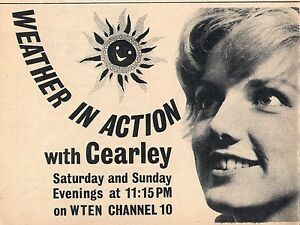Details about 1965 Tv Ad~Weather In Action with Cearley~WTEN in Albany,New  York~News~Girl