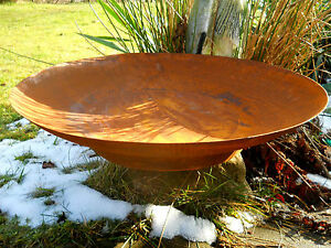 Metallschale Lotosblume Edelrost D30 Schale Pflanzschale Gartendeko Blumenschale