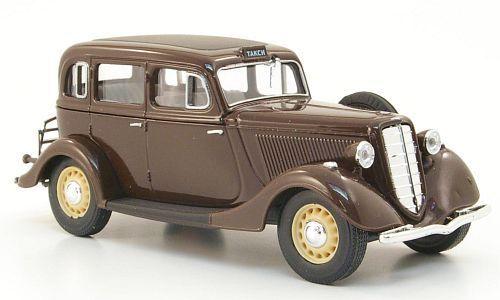 wonderful Russian modelcar GAZ M1 TAXI 1937 brown 1//43