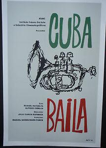 1 Day Sale VAMPIRE Cuban Silkscreen Poster Salutes Short-Subject Movies in Cuba
