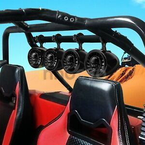 1000W-Bluetooth-Waterproof-ATV-UTV-RZR-Polaris-Stereo-4-Speaker-Audio-Amp-System