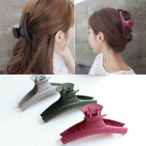US-Women-Acrylic-Simple-Hair-Claw-Clips-Barrette-Crab-Clamp-Hair-Accessories