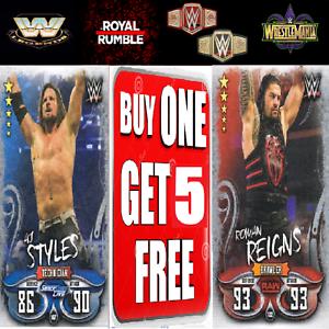 Wwe Slam Attax Live 2018 Raw 25 NXT 205 Live Raw /& Smackdown Superstars