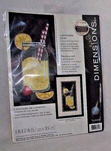 Dimensions-Cross-Stitch-Lemonade-Counted-Kit-Mason-Jar-Lemon-Kitchen-7035324-NEW