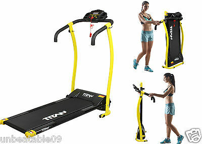 Folding Treadmill 1HP Electric Motorised Running Machine Exercise Equipment New