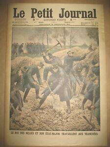 ROI-BELGIQUE-AUX-TRANNCHeES-COSAQUES-PRISONNIERS-ALLEMANDS-LE-PETIT-JOURNAL-1914