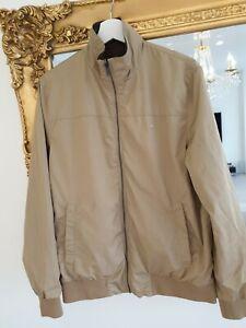 Lacoste-homme-reversible-blouson-beige-veste-marron-taille-48-RRP-338-in-environ-858-52-cm-tres-bon